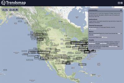 Le site Trendsmap, lancé le 22 septembre, est un service qui permet une...