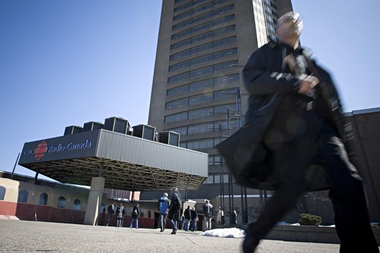La tour de Radio-Canada à Montréal... (Photo: Patrick Sanfaçon, La Presse)
