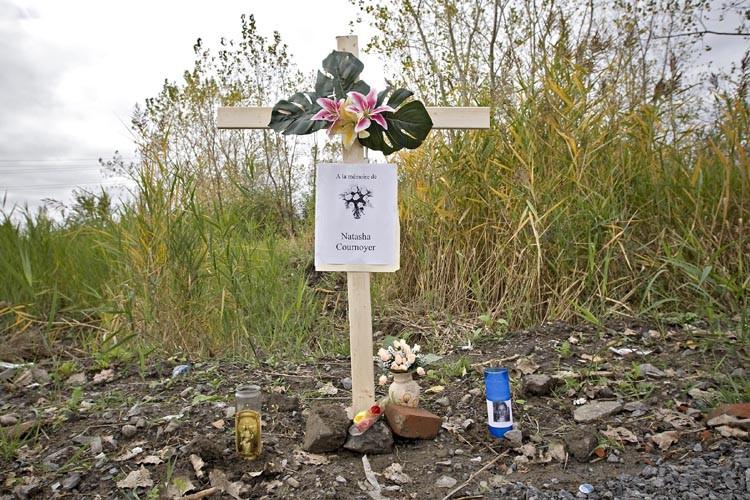Un épitaphe a été érigé à l'endroit où... (Photo: Patrick Sanfaçon, La Presse)