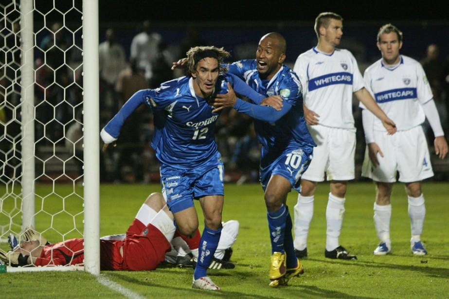 Eduardo Sebrango a marqué à la 89e minute pour permettre à l'Impact... (Photo PC)