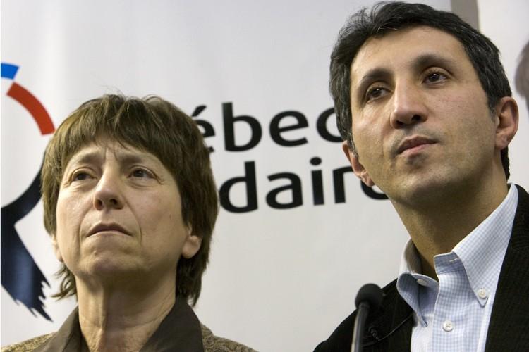 Françoise David et Amir Khadir.... (Photo: David Boily, La Presse)
