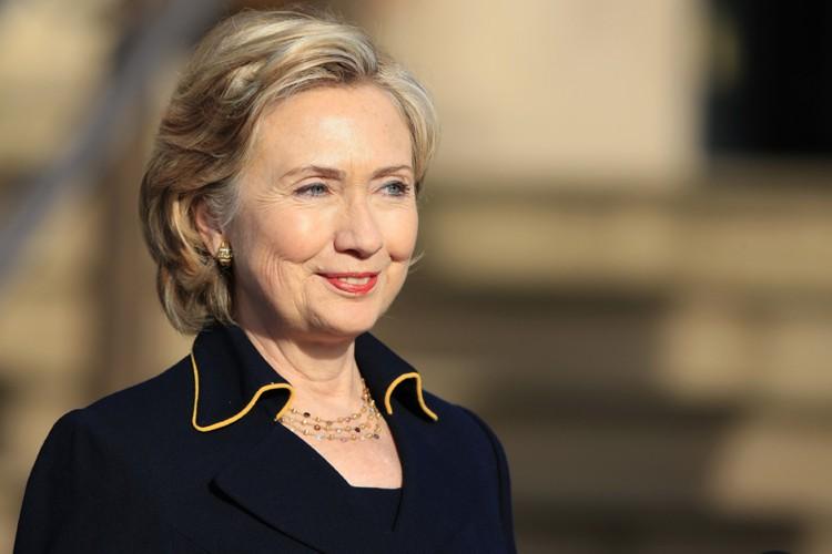 La secrétaire d'Etat américaine, Hillary Clinton, arrivée lundi... (Photo: AFP)