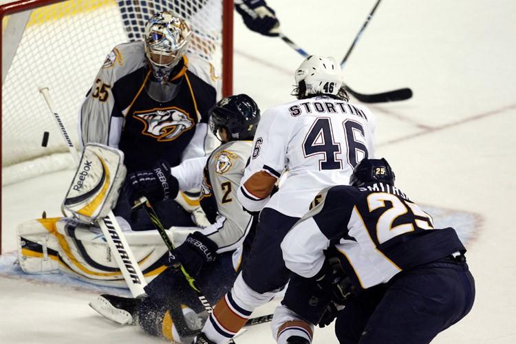 Zack Stortini a marqué deux des quatre buts des Oilers... (Photo: Reuters)