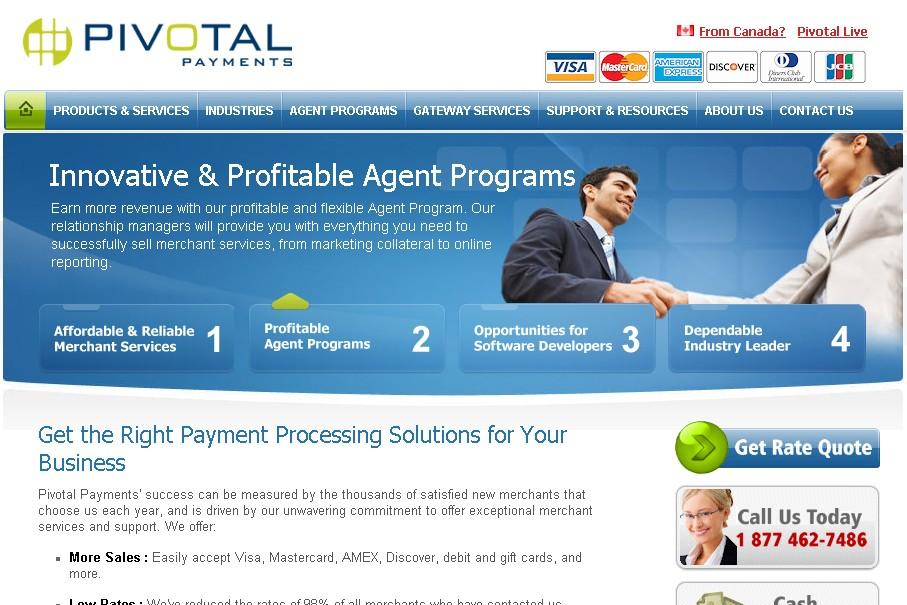 Le site web de Pivotal Placements...