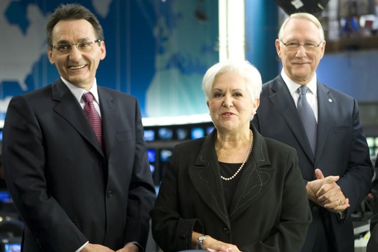 Richard Bergeron, Louise Harel et Gérald Tremblay dans... (Photo: André Pichette, La Presse)