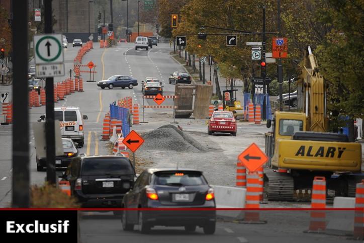 L'immense majorité des contrats de construction a été... (Photo: Bernard Brault, La Presse)