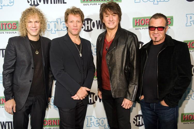 Les membres du groupe Bon Jovi: David Bryan,... (Photo: AP)