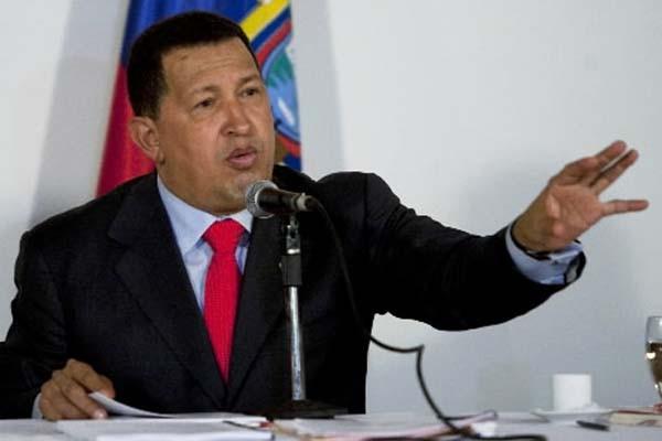 Le président vénézuélien, Hugo Chavez... (Photo: Carlos Garcia Rawlins, Reuters)
