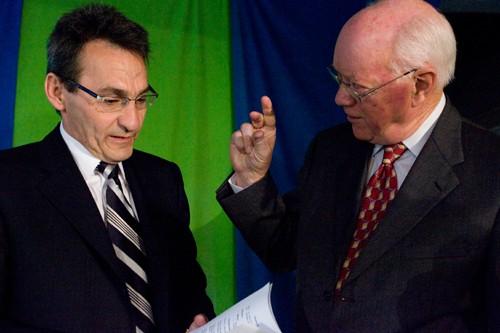 Richard Bergeron et John Gomery.... (Photo: André Tremblay, La Presse)