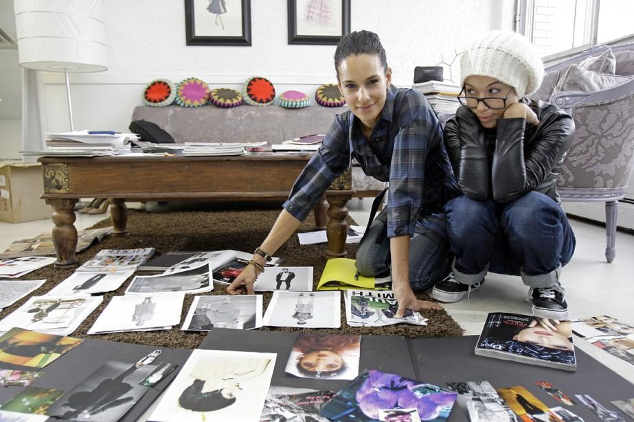 Claudia (à gauche) et Sabrina Barilà, dans leur... (Photo: Robert Mailloux, La Presse)