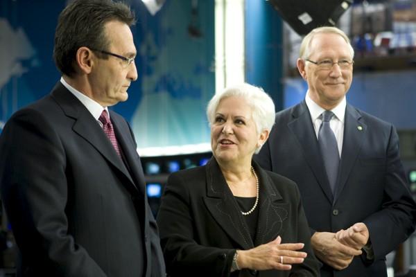 Richard Bergeron, Louise Harel et Gérald Tremblay lors... (Photo: André Pichette, La Presse)
