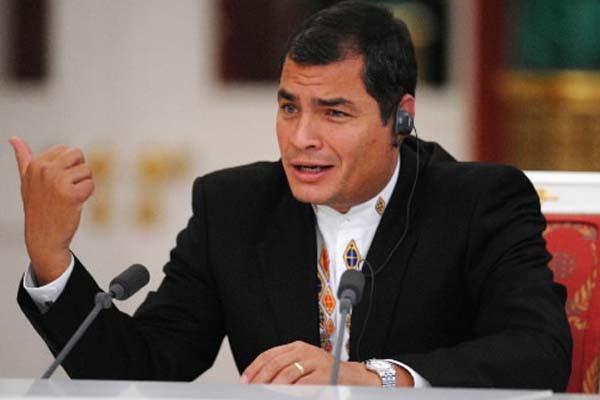 Le président socialiste équatorien, qui avait jusque-là fait... (Photo: Dmitry Kostyukov, AFP)