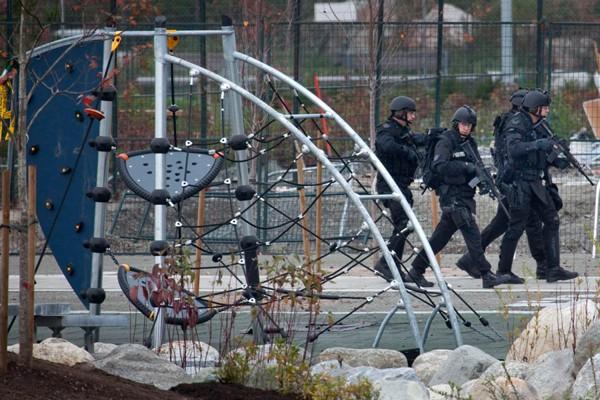 Un exercice de sécurité sur le site des... (Photo : Reuters)