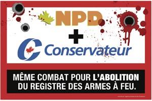 Le Bloc québécois attaque le rôle du NPD... (Affiche du Bloc Québécois)