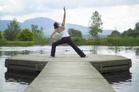 Une jeune femme fait du yoga au Spa... (Photo: fournie par le Spa Eastman)