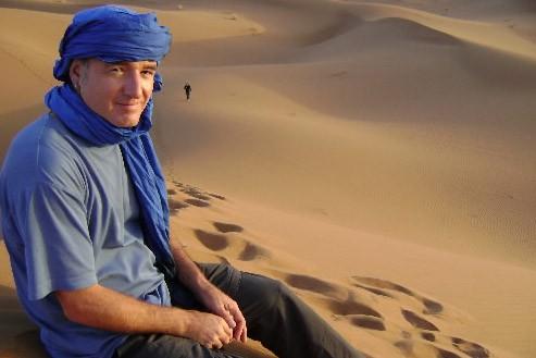 Bruno Blanchet dans le désert au Sénégal... (Photo: Boris Blanchet)