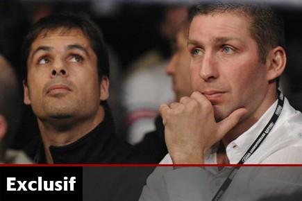 Éric Lucas en compagnie de son entraîneur, Stéphan... (Photo Bernard Brault, archives La Presse)