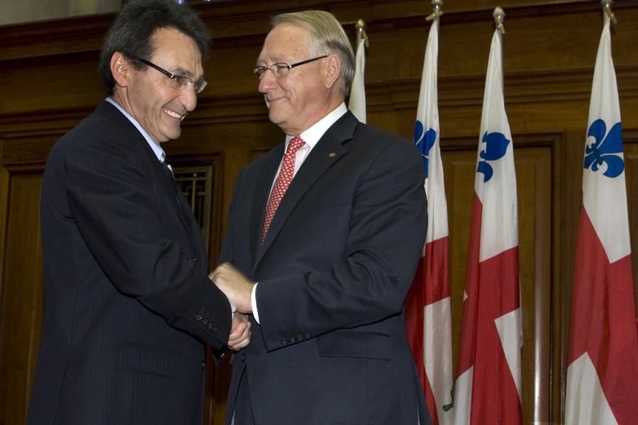Gérald Tremblay a nommé Richard Bergeron au comité... (Photo: Robert Skinner, La Presse)