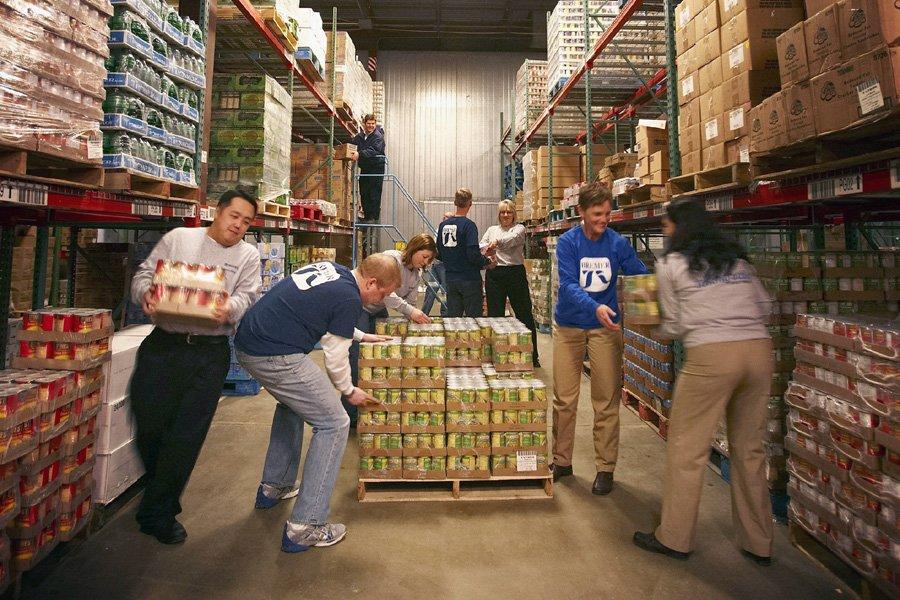 Les banques alimentaires sont les premiers témoins de la... (Photo: Archives AP)
