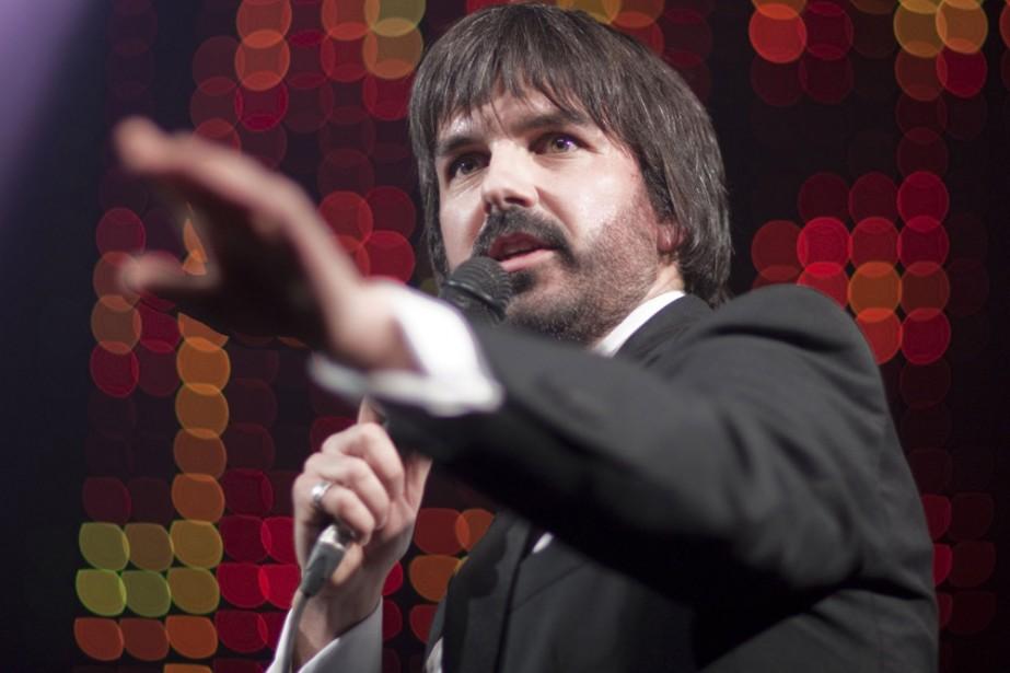 Damien Robitaille en spectacle au Club Soda.... (Photo: André Pichette, La Presse)