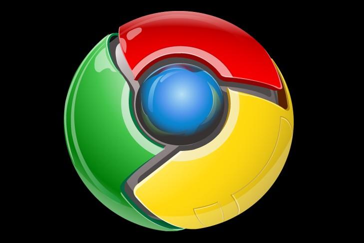 Le logo de Google Chrome...