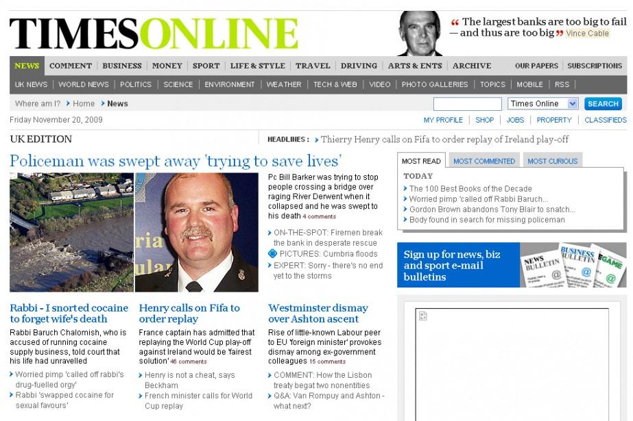 Le Times Online...
