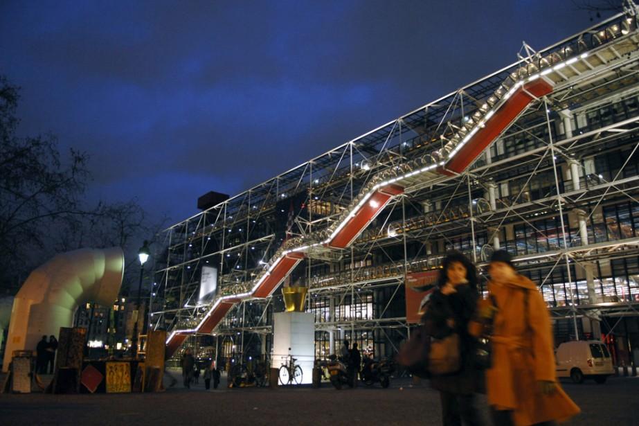 Une vue extérieure du Centre Pompidou.... (Photo: archives AFP)