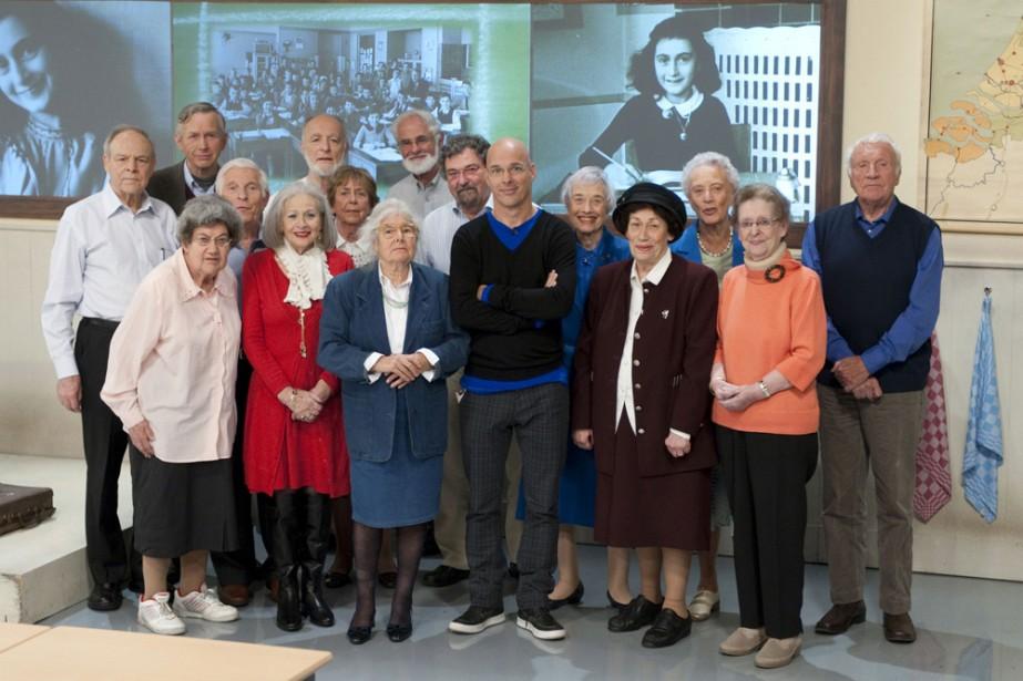Quinze anciens camarades de classe d'Anne Frank ont été réunis... (Photo: AFP)