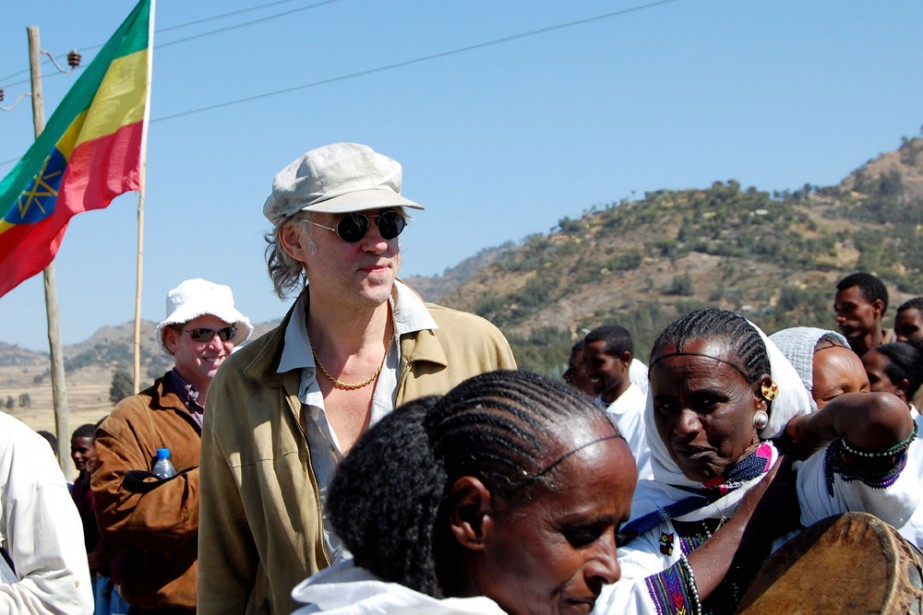 Bob Geldof en Éthiopie.... (Photo: AFP)