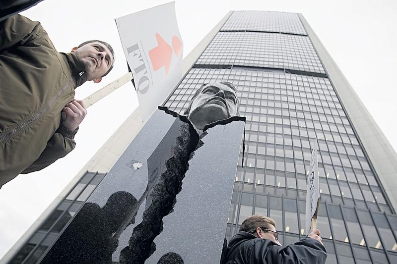 Des travailleurs mis à pied par Cellulab ont... (Photo Ivanoh Demers, La Presse)