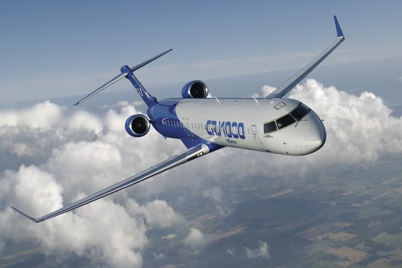 Un CRJ1000 de Bombardier....