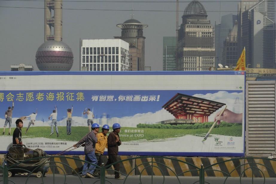Les publicités de l'Expo 2010 tapissent la ville.... (Photo: Émilie Côté, La Presse)