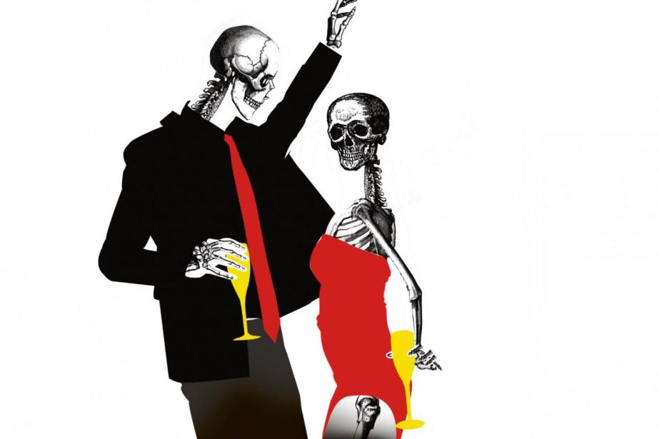 Fini l'orchestre, le champagne et le... (Illustration Kevin Massé, La Presse)