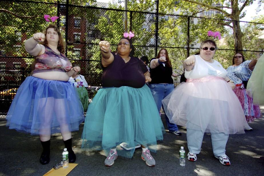 Des militantes pour la reconnaissance des «gros» à... (Photo: Reuters)