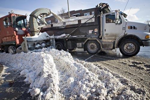La qualité du déblaiement des rues principales du... (Photo: Patrick Sanfaçon, La Presse)