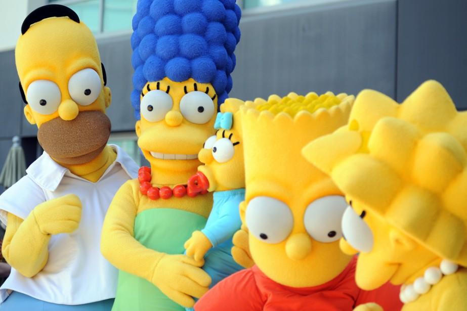 Homer, Marge, Maggie, Bart et Lisa incarnent la... (Photo: AFP)