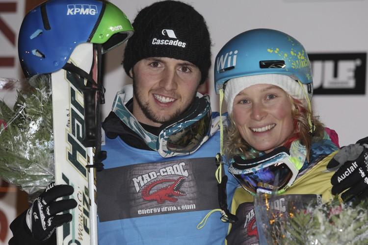 Alexandre Bilodeau et Kristi Richards... (Photo: PC)