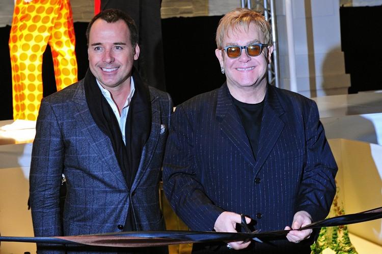 Elton John et son partenaire David Furnish.... (Photo: AFP)