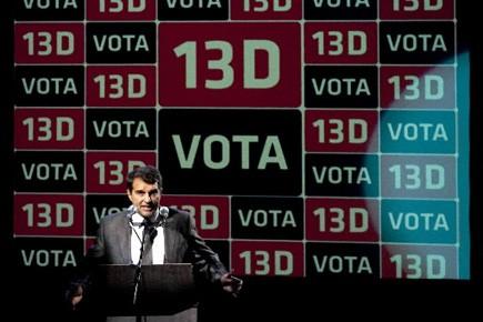 Joan Laporta, président du prestigieux club de foot... (Photo: Josep Lago, AFP)
