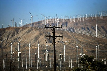 Éoliennes près de Palm Springs en Californie.... (Photo: AFP)