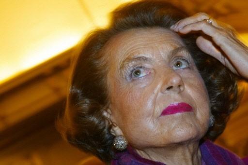 Liliane Bettencourt, héritière du fondateur de L'Oréal.... (Photo: AFP)
