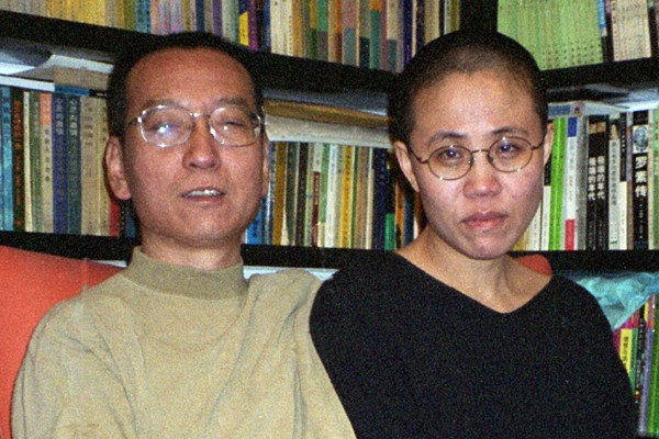 Le dissident Liu Xiaobo et sa femme. Elle... (Photo AFP)