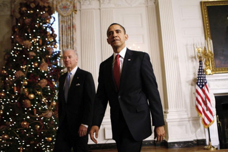 Barack Obama a qualifié d'«historique» l'adoption de son... (Photo: AP)