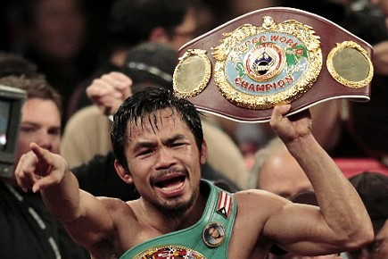 Manny Pacquiao, le 14 novembre 2009... (Photo: Archives AP)