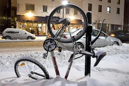 Entre dix et 15 centimètres de neige... (Photo: Alain Roberge, La Presse)