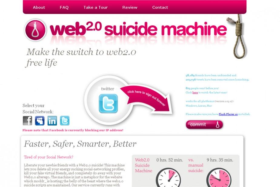 Le site suicidemachine.org...