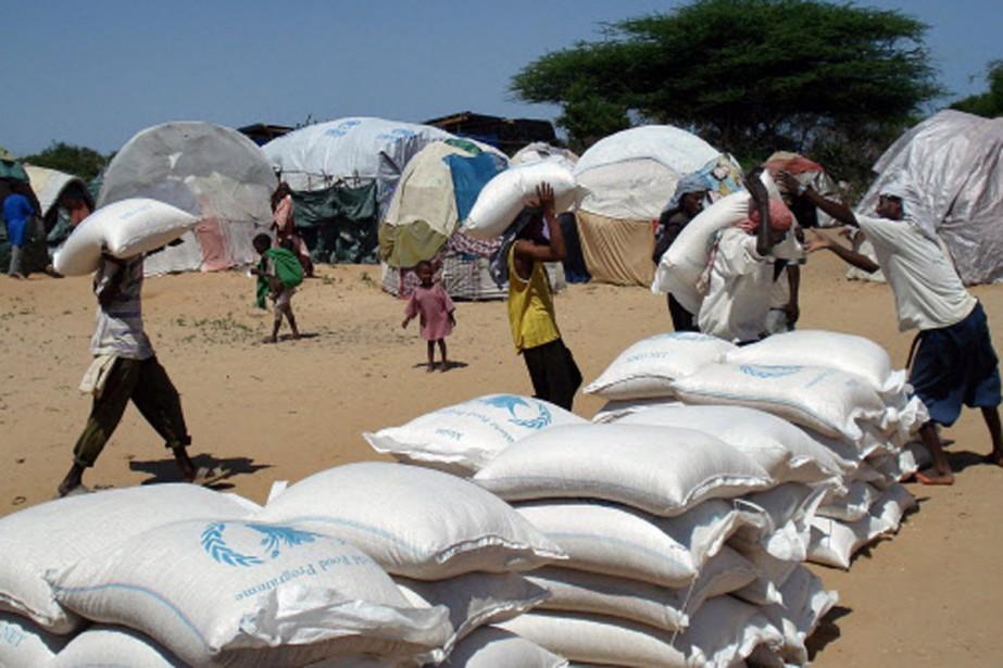 L'arrêt des distributions de nourriture privera plus d'un... (Photo: AFP)