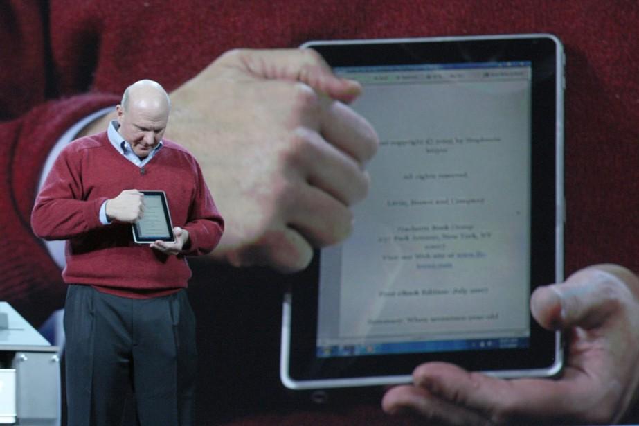 Steve Ballmer a présenté sommairement le «Slate» en... (Photo: AP)