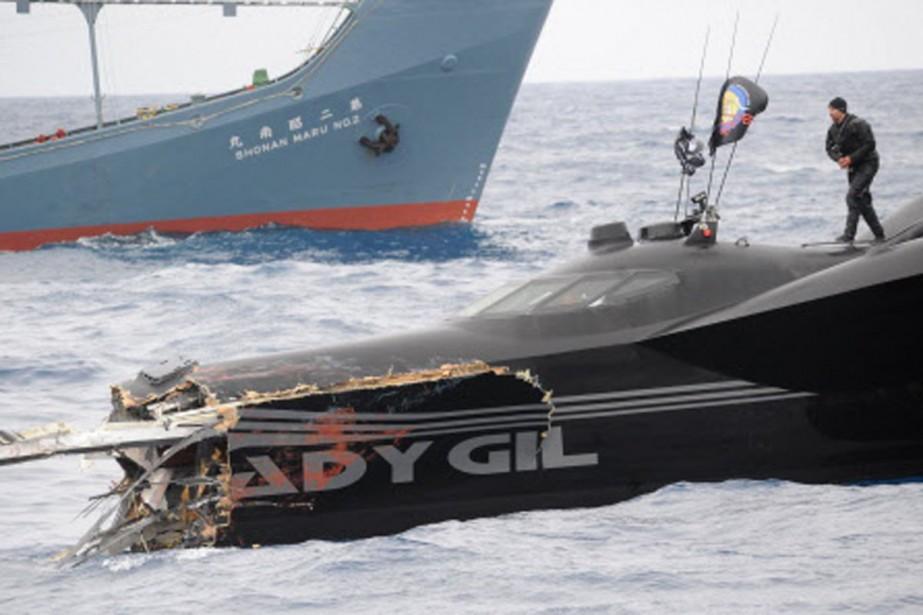 L'Andy Gil a été complètement détruit par le... (Photo: Reuters)