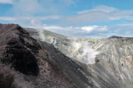 Les émissions de cendres du volcan Turrialba, à 40 km à l'est de... (Photo: AFP)